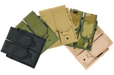 Leapers Velcro Attached Modular Double-Mag Pouch, Desert Camo