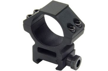 Leapers Weaver Style 30mm Medium Profile See-Thru Ring, Fits Scopes up to 45mm Obj., 4 Top Screws RGWM-30M4