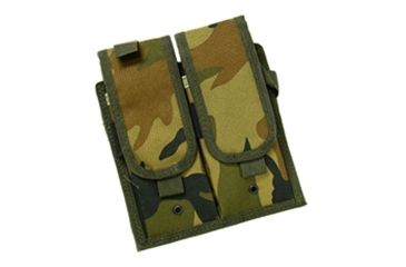 Leapers Velcro Attached Modular Double-Mag Pouch PVC-P547-999 Camouflage
