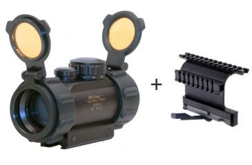 Leatherwood 1x30mm Red Dot Tactical Reflex Sight w/ Leapers 5th Gen Quick Detachable Double-Rail AK Side Mount
