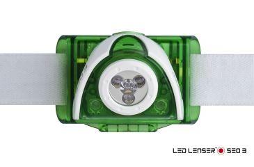LED Lenser SEO3 Headlamp, Green 880126