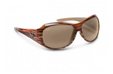Maui Jim Lehua Sunglasses w/ Koa Brown Frame and HCL Bronze Lenses - H203-22, Quarter View