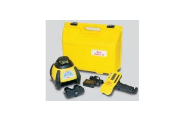 Leica Geosystems 6000733 Rugby 50 GC Construction Laser Package: Rod-Eye Classic, Alkaline Batteries