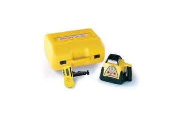 Leica Geosystems Rugby 100 Distance Surveying General Construction Laser Package w/ Rod-Eye Mini Sensor & Alkaline Batteries 731094