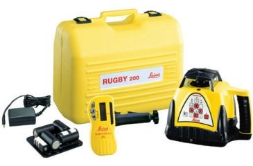 Leica Geosystems Rugby 200 Class IIIa Interior Construction Laser Package w/ Deluxe Case & Alkaline Batteries, w/o Remote Control 740234