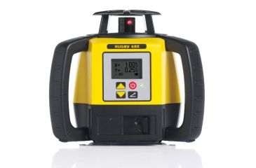 Leica Geosystems Rugby 680, Rotary Laser, Self Levelling, Dial In Grade to 8% in Dual Axis, Yellow/Black 6008624