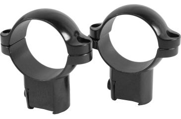 Leupold Rimfire Ringmount High Riflescope Mounting Base for 3/8 Rail - Glossy Black