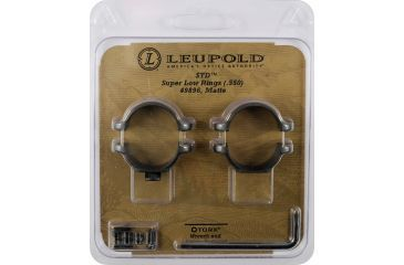 Leupold STD Rifle Scope Ring, 1in, Super Low, Matte Black 49896