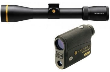 Leupold VX-6 3-18x44mm Riflescope S.F. CDS, Matte, Illum. Duplex w/ Leupold TBR Compact Digital Laser Rangefinder w/ DNA Black