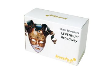 Levenhuk Broadway 325F Opera Glasses, Silver, with LED Light and Chain, Medium 17781