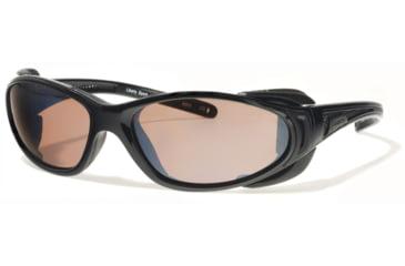 Liberty Sport Suns CHOPPERProtective Eyewear Shiny BlackFrame,Rose Amber Lens, Unisex CHOPPRSBMB6117140DSL