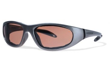 Liberty Sport Suns ESCAPADE 1 Protective Eyewear Shiny Gunmetal Frame,Rose Amber Lens, Unisex ESCAP1SGUN6018135DSL