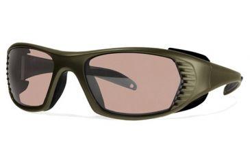 Liberty Sport Suns FREE SPIRIT Protective Eyewear Army Green Frame,Rose Amber Lens, Men FREESPGREN5718125DSL