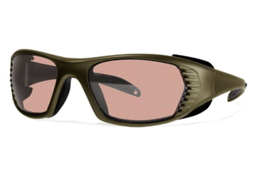 Liberty Sport Suns FREE SPIRIT XL Protective Eyewear Army Green Frame,Rose Amber Lens, Men FREEXLGREN5918125DSL