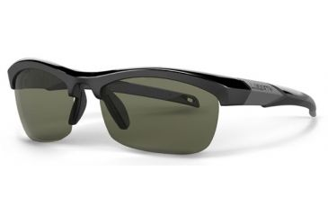 Liberty Sport Suns IT-20 B Protective Eyewear Shiny Black Frame,Grey/Green w. silver flash Lens, Unisex IT20-BSHBK6020135FP