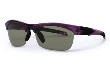Liberty Sport Suns IT-20 B Protective Eyewear Translucent Purple Frame,Grey/Green w. silver flash Lens, Women IT20-BPURP6020135FP