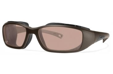 Liberty Sport Suns RIDER DRY EYE Protective Eyewear Satin Burnt Bronze Frame,Rose Amber Lens, Unisex RIDERDSABB6017130DSL