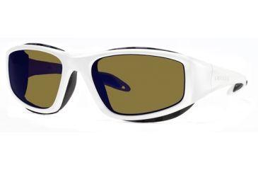 Liberty Sport Suns SNOWBLAZER 1Protective Eyewear Shiny Pearl White Frame,Amber w blue flash Lens, Unisex SNOW1SPWH5919130SCL