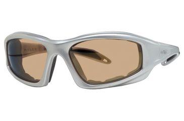 Liberty Sport Suns TORQUE 1 Protective Eyewear Shiny Silver Frame,Brown Bronze Lens, Unisex RS-TQ1SHSI6017130BBM