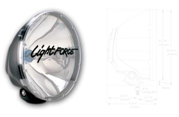 Lightforce Driving Light Hid 240Mm - Single Unit 12 Volt 35 Watt DL240HID