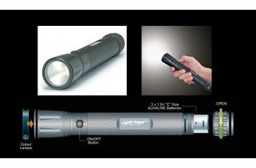 Lightforce Tactical Torch 3 X C Cell Led 232X32Mm Filters TAC30