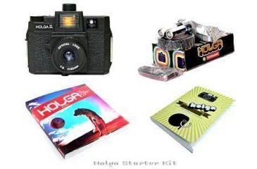 Lomography Color Flash Holga Camera Starter Kit 829 - 120 Medium Format Film Camera w/ Color Flash