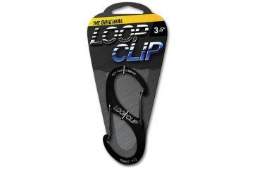 Looprope 3.5in Loopclip Carabiner Clip, Anodized Black 963991