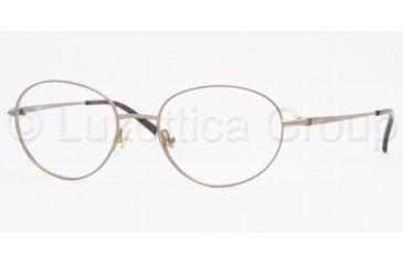 Luxottica LU 6555 Eyeglasses Styles - Gold Frame w/Non-Rx 51 mm Diameter Lenses, 3048-5118