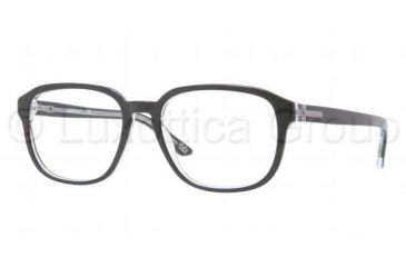 Luxottica LU3207 Bifocal Prescription Eyeglasses C388-5218 - Top Black On Transparent Frame