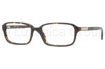 Luxottica LU3208 Single Vision Prescription Eyeglasses C213-5317 - Dark Havana Frame
