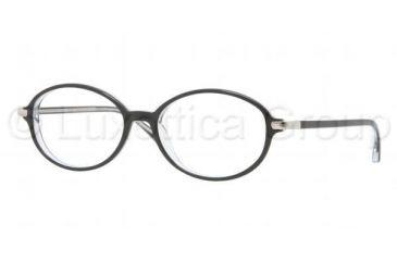 Luxottica LU4334 Eyeglass Frames C388-5116 - Top Black On Transparent Frame