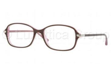 Luxottica LU4335 Eyeglass Frames C518-5517 - Plum on Pink Frame, Demo Lens Lenses