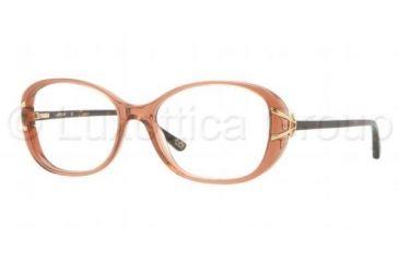 Luxottica LU4339 Eyeglass Frames C528-5116 - Translucent Brown Frame, Demo Lens Lenses