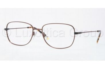 Luxottica LU6563 Progressive Prescription Eyeglasses 3063-5617 - Brown Frame