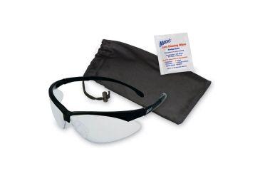 Macks Shooting Glasses, Black Frame, Clear Lens MK4481
