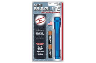 Mag Instrument Mini MagLite 2 Cell AA Flashlight - Holster Combo Pack, Blue M2A11H