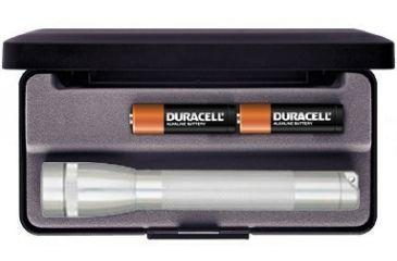 Mag Instrument Mini MagLite AA Flashlight - Presentation Box, Silver M2A10L