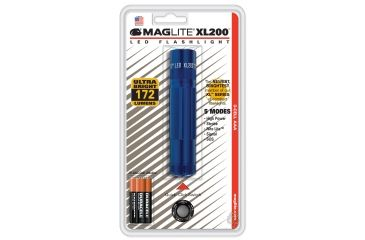 Mag Lite XL 200 3-Cell AAA LED Light, Blue Blister Pack S3116