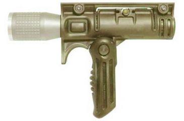Mako Group Tactical Folding Grip w/ 1 1/8-inch Flash Light Adapter - Desert Tan