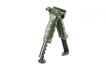 Mako Group Tactical Vertical Foregrip w/ Integrated Adjustable QR Bipod - Gen 2, Olive Drab T-PODG2QR-OD