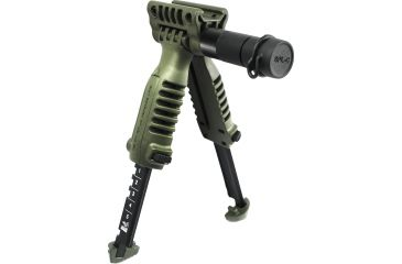 Mako Group Vertical Fore Grip and Bipod w/ Integrated Tactical Light - OD Green PodSLOD