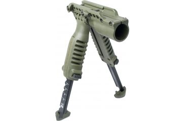 Mako Group Vertical Foregrip/Bipod/Flashlight Adapter Olive Drab T-PodFAOD