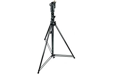 Manfrotto Bogen 12' Black Chrome Plated Steel Stand W/leveling Leg 111BSU