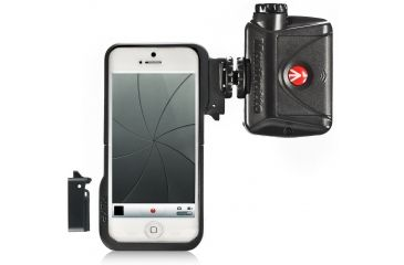 Manfrotto KLYP case for iPhone 5 with connectors and ML240 LED MKLKLYP5