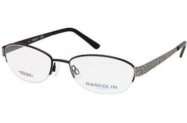 Marcolin MA7302 Eyeglass Frames - Shiny Gun Metal Frame Color