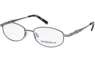 Marcolin MA7303 Eyeglass Frames - Shiny Gun Metal Frame Color