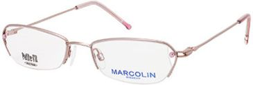 Marcolin MA7307 Eyeglass Frames - Shiny Pink Frame Color