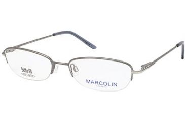 Marcolin MA7308 Eyeglass Frames - Shiny Gun Metal Frame Color