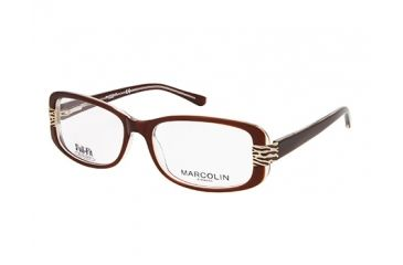 Marcolin MA7309 Eyeglass Frames - Dark Brown Frame Color