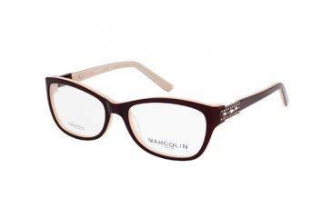 Marcolin MA7319 Eyeglass Frames - Dark Brown Frame Color